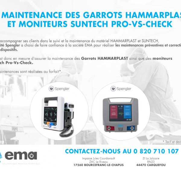 La maintenance des Garrots Hammarplast et moniteurs Suntech Pro-vs-check